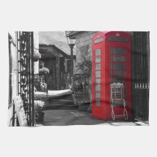 英国の公衆電話ボックス お手拭タオル
