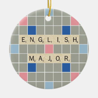 英国の専攻学生 セラミックオーナメント