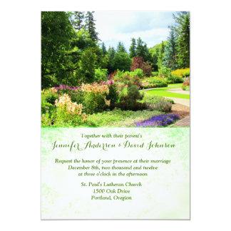 英国の庭のカスタムの結婚式招待状 カード