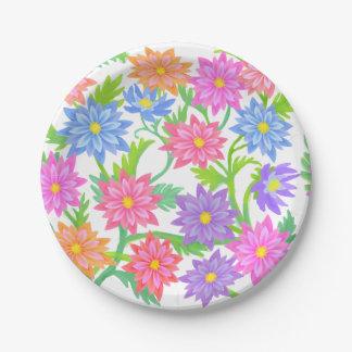 英国の庭の花の紙皿 ペーパープレート