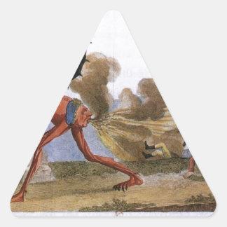 英国の政府ジェイクスルイの風刺漫画 三角形シール