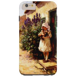 英国の村女の子および猫 TOUGH iPhone 6 PLUS ケース