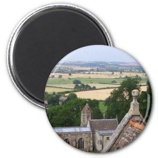 英国の田舎はRockinghamの城(93を描きます マグネット