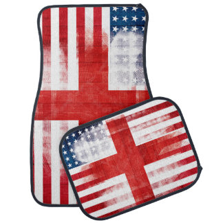 英国の米国旗|の木製の穀物及びブラシの打撃 カーマット