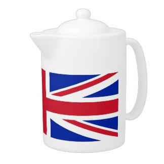 英国の英国国旗の旗の茶ポット