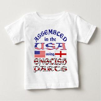 英国の部品の前部 ベビーTシャツ