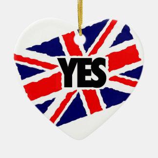英国へのYES セラミックオーナメント