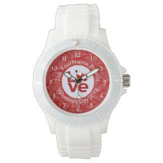 英国またはセントジョージの十字愛白い赤 腕時計