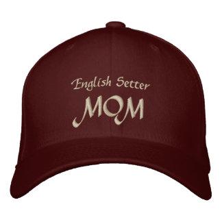 英国セッターのお母さんのギフト 刺繍入りキャップ