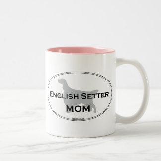 英国セッターのお母さん ツートーンマグカップ