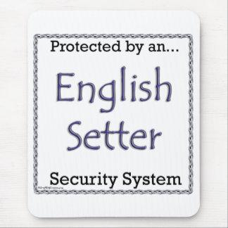 英国セッターのセキュリティシステム マウスパッド