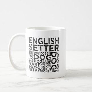 英国セッターのタイポグラフィ コーヒーマグカップ