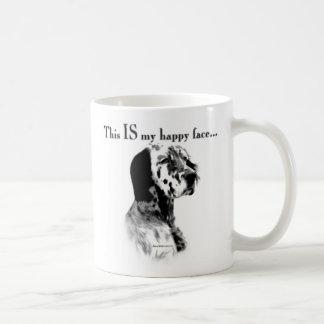 英国セッターの幸せな顔 コーヒーマグカップ