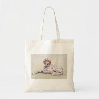 英国セッターの水彩画の絵画 トートバッグ
