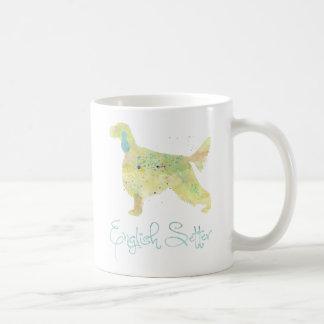 英国セッターの水彩画 コーヒーマグカップ