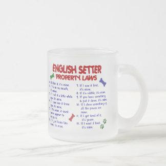 英国セッターの特性の法律2 フロストグラスマグカップ
