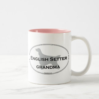英国セッターの祖母 ツートーンマグカップ