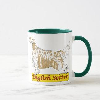 英国セッターの青およびオレンジbelton マグカップ