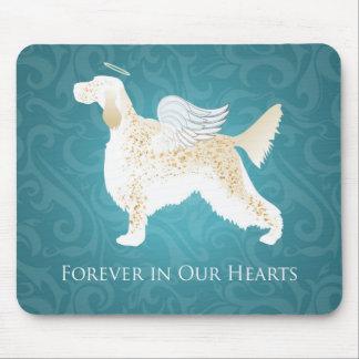 英国セッターペット記念の天使犬 マウスパッド