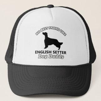 英国セッター犬のお父さん キャップ