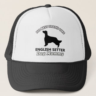 英国セッター犬のデザイン キャップ