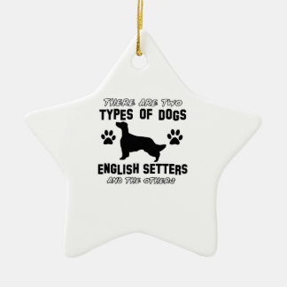 英国セッター犬のデザイン セラミックオーナメント