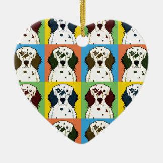 英国セッター犬の漫画の破裂音芸術 セラミックオーナメント