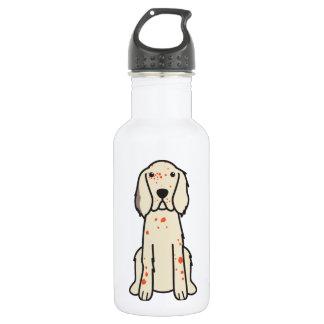 英国セッター犬の漫画 ウォーターボトル