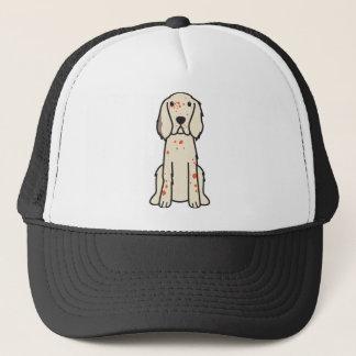 英国セッター犬の漫画 キャップ