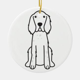 英国セッター犬の漫画 セラミックオーナメント