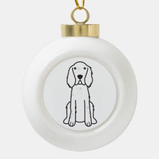 英国セッター犬の漫画 セラミックボールオーナメント