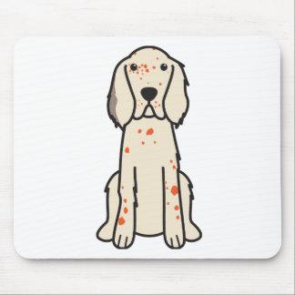 英国セッター犬の漫画 マウスパッド