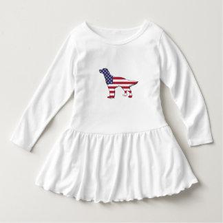 """英国セッター- """"米国旗"""" ドレス"""