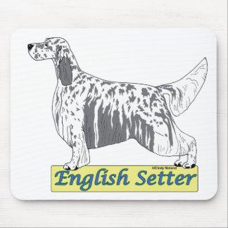 英国セッター-青いbelton マウスパッド