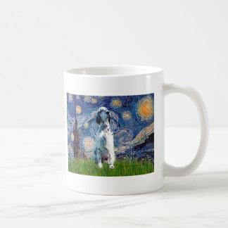 英国セッター(BW) -星明かりの夜 コーヒーマグカップ