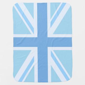 英国国旗か旗のデザインの青 ベビー ブランケット