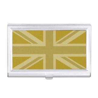 英国国旗か旗の金 名刺入れ