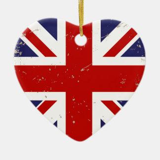 英国国旗のぼろぼろの上品 セラミックオーナメント