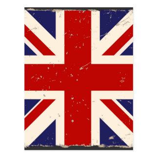英国国旗のぼろぼろの上品 ポストカード