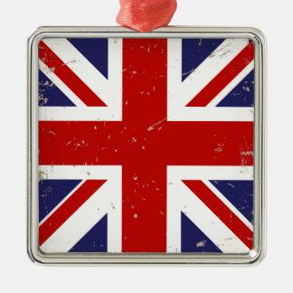 英国国旗のぼろぼろの上品 メタルオーナメント
