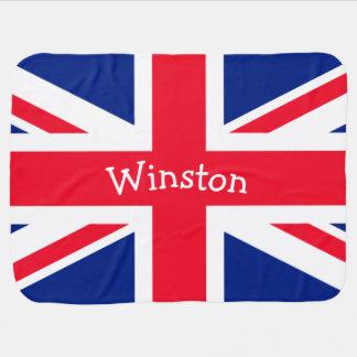 英国国旗のイギリスのイギリスの愛国心が強い旗 ベビー ブランケット