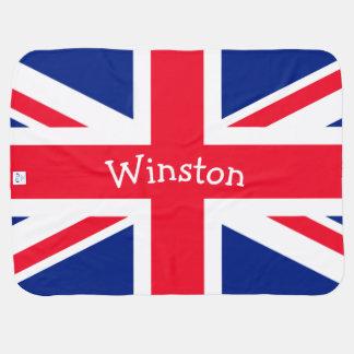 英国国旗のイギリスのイギリスの愛国心が強い旗(味方される2) ベビー ブランケット