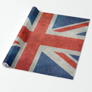 英国国旗のイギリスのイギリスの旗のレトロのスタイルのギフト用包装紙 ラッピングペーパー