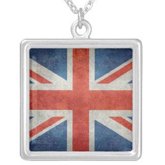 英国国旗のイギリスのイギリスの旗のレトロのスタイルのペンダント シルバープレートネックレス