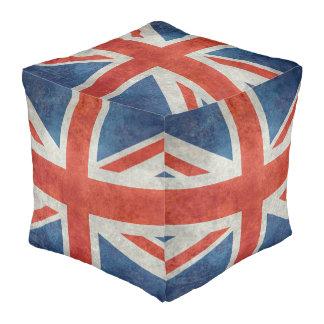 英国国旗のイギリスのイギリスの旗のレトロのスタイルのpouf プーフ