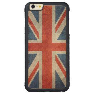 英国国旗のイギリスのイギリスの旗のレトロの木製のiphoneの場合 CarvedメープルiPhone 6 plusバンパーケース