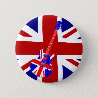 英国国旗のイギリスのギターの芸術2 缶バッジ