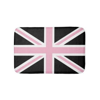 英国国旗のイギリスの旗のピンクおよび黒 バスマット