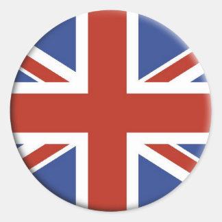 英国国旗のイギリスの旗の円の設計 ラウンドシール