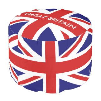 英国国旗のイギリスの旗の円形のpoufのデザイン プーフ